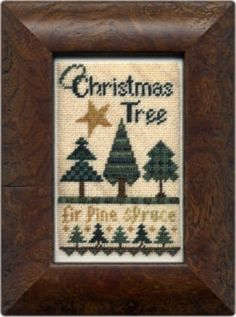 O Christmas Tree is the title of this cross stitch pattern from Erica Michaels.