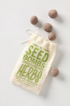 Seed Bombs! They contain a mixture of wild flowers that attract birds, bees and butterflies.