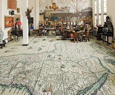World #map carpet.