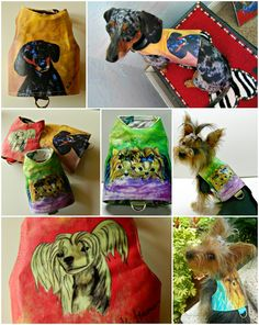 Artistic harnesses made from the original artwork by Kiki Hamann. Several breeds available. Very artistic! origin artwork