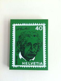 Silk screen on canvas.    Einstein Stamp: $25