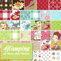 Camp like a girl with Glamping by Mary Jane Butters for @Ann Lee fabric! Now available at #FQS