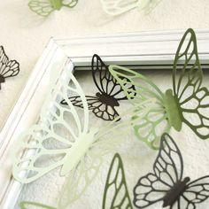 Laser cut butterflies