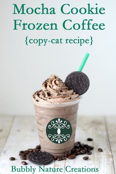 Starbucks Mocha Cookie Crumble Frappuchino copycat recipe