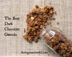 The best dark chocolate granola- #cleaneating #glutenfree #healthyfood