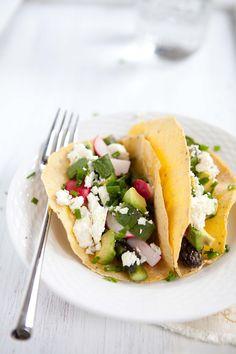 Asparagus, Avocado, and Feta Tacos