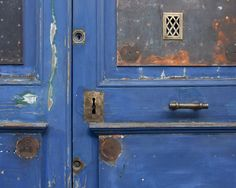 Something old, something blue wall art, color combos, blue doors, rustic homes, fine art photography, something blue, french blue, front door colors, color photography