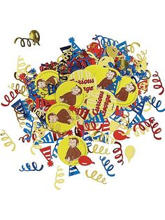 Curious George Confetti(Each) - Curious George Birthday Party Supplies