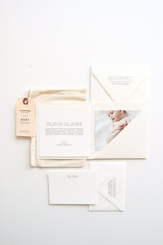 Olivia: Baby Announcements & Stationery