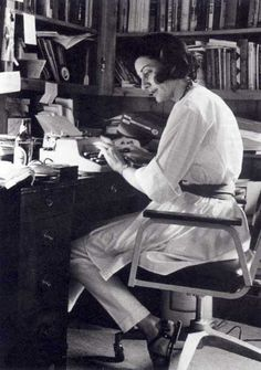 Anne Sexton at work.