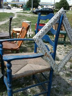Shabby Chic chair and frame