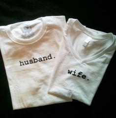 Husband and Wife T-shirt set.