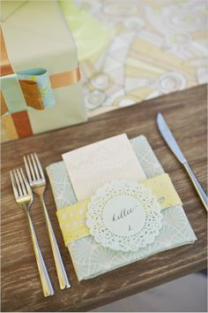 pastel place cards