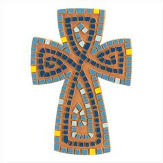 mosaic cross wall, craft, cross mosaic, mosaics, mosaic idea, art, glass mosaic, mosaic crosses, cedar cross