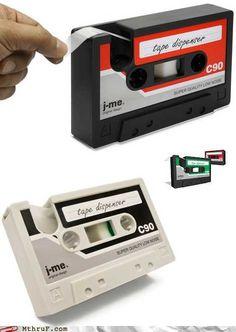 ideascut product, cassett tape, stuff, neat, geek nerd, clever ideascut, tapes, thing, tape dispens