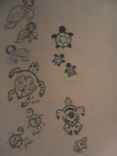 Turtle tats-mom and babies?