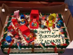 Zachary's trash pack birthday cake! I'm no good at baking so I ordered a cake from Costco and asked them to leave it blank except for the writing and I did the rest :)