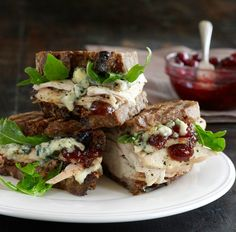 Turkey Panini with Blue Cheese and Cranberry Chutney