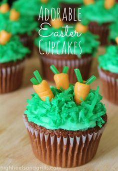 High Heels & Grills: Adorable Easter Cupcakes