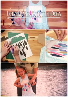 HGTV Crafternoon: Freezer Paper-Stenciled Dress http://blog.hgtv.com/design/2014/07/08/hgtv-crafternoon-freezer-paper-stenciled-dress/  Design Happens  http://idealshedplans.com/backyard-storage-sheds/