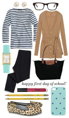 This is adorable! I could totally recreate this with my own wardrobe once I have my Longchamp for school!