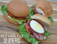 BLT with Egg Sliders. #yum #putaneggonit #recipe #GreatDayFarms #ad
