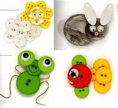 more button crafts from Russian blog - no tutorial.