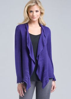 This style of cardigan is also very flattering.