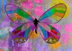 """A butterfly created in Corel..Paint Shop Pro..feel free to click, then right click and """"save image as"""" for your journaling pleasure 