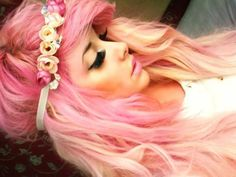 really liking the idea of light pink hair..
