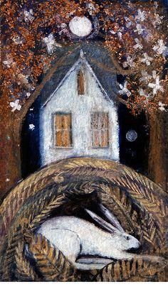 "Catherine Hyde: ""Sleeping Hare""."
