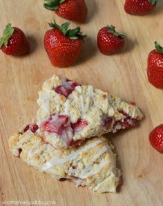 Strawberries and Cream Scones - What the Fork Food Blog