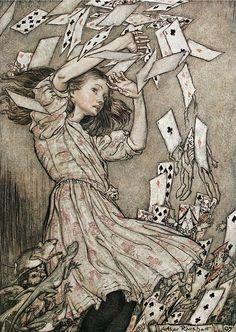 """Alice in Wonderland"" by Arthur Rackham"