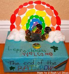 Super sweet kid made leprechaun trap!