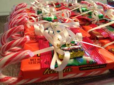 Santa candy sleigh.  I made these for the kids as a favor for our Christmas eve party.