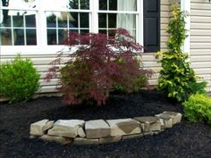 simple landscaping ideas front yard pictures, mini wall in planter bed