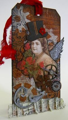 Steampunk Tag Tutorial by Shelly Hickox ~ There are various techniques on this piece.