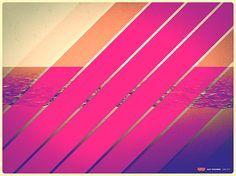 neon pink ocean inspiration
