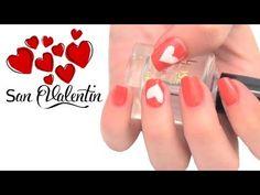Diseños de uñas para San Valentín. Nail art for Valentine's Day.