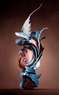 chocolate fish sculpture! Awesome!