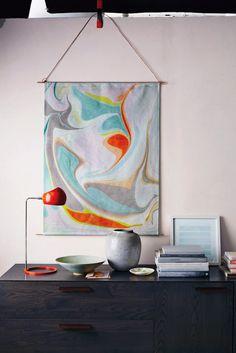 Fácil Marbling Tutorial + Martha Stewart Living Giveaway - Lino y Cordeles