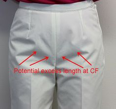 Front Crotch Length just a little too Long? - Sure-Fit Designs™ Blog (great for those who have that pouf of fabric below the tummy and above the crotch curve.)