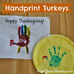 Handprint Turkeys - Thanksgiving Craft