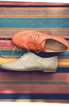 Colorful oxfords. Yes, please!