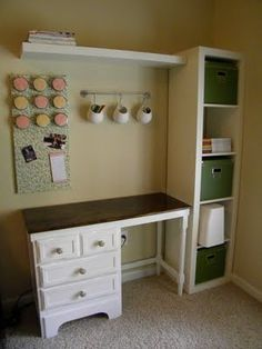 A Corner of Craftiness..great design for small spaces!