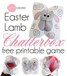 "Love these little Easter Lamb ""cootie catchers"""