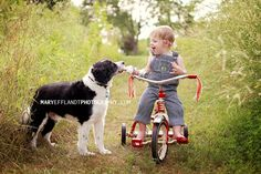 Dog and tricycle, so classic