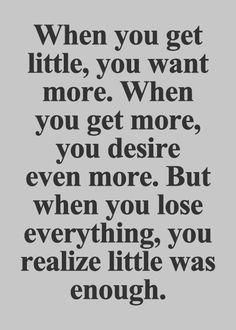 little was enough.