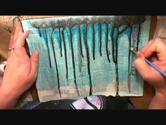 Mixed Media Tutorials - Art Journaling: Textured backgrounds