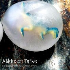 Frozen dinosaur eggs - clever way to make frozen eggs and you could hide lots of different things inside